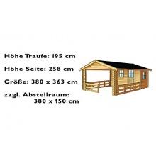 Skan Holz Blockbohlenhaus Alicante Grillhütte Bild 1