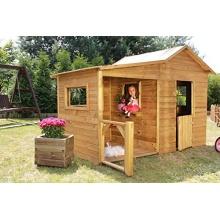 Baumotte Spielhaus Holz,Kinderspielhaus Heidi Premium Bild 1