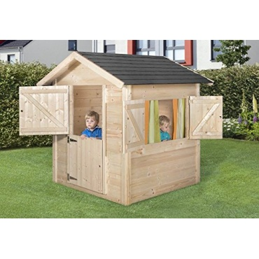 spielhaus weka kinderspielhaus philipp natur 145x153cm test. Black Bedroom Furniture Sets. Home Design Ideas