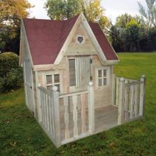 Promex Kinderspielhaus Schwalbennest klein mit Veranda Bild 1