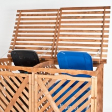 TecTake Mülltonnenbox Mülltonnenverk. für 2 Tonnen Bild 1