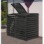 Mülltonnenbox aus Holz Vario III für 2 Tonnen,PROMEX Bild 1