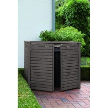 Mülltonnenbox in Holz für zwei 120 ltr. Tonnen,RiBa Bild 1