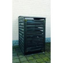 Mülltonnenbox Holz Vario III für 1 Tonne, PROMEX Bild 1
