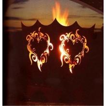 Feuerkorb Flammenherz in Edelrost FA10225 Bild 1