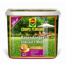 Compo Floranid Rasendünger gg Unkraut,Moos 4-in-1,9 kg Bild 1