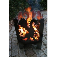 Feuerkorb DRACHE Gr. XXL aus Stahl Bild 1