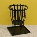 Feuerkorb aus Metall, schwarz mit Bodenplatte Bild 1
