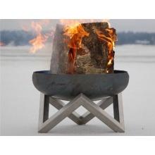 Design-Feuerschale / Feuerkorb aus massivem Stahl Gr. L Bild 1