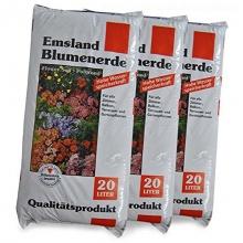 Blumenerde Emsland 60 L, 3x20 Liter Bild 1