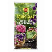 Compo Blumenerde Sana Balkon- u Kübelpflanzenerde 70 L Bild 1