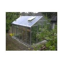 TOP Gewächshaus mit Glas stabil 2,5 x 4,06 m Bild 1