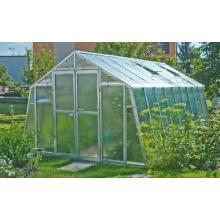 TOP Gewächshaus mit Glas stabil 3,03 x 3,03 m Bild 1