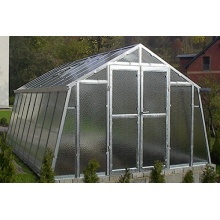 TOP Gewächshaus,Glas unschlagbar stabil 2,76 x 6,05 m Bild 1