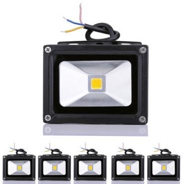 rondaful 5st ck 10w led flutbeleuchtung test. Black Bedroom Furniture Sets. Home Design Ideas
