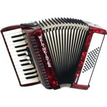 Weltmeister Piano Akkordeon Perle rotperloid Bild 1