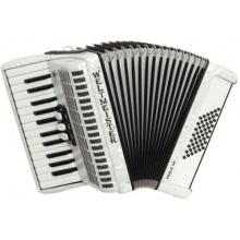 Weltmeister Piano Akkordeon Perle weissperloid Bild 1