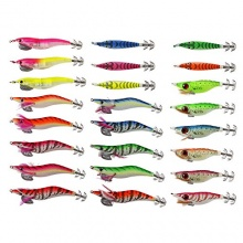 Freefisher Angelset,24 tlg Squid Jig Angelköder  Bild 1