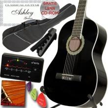 ASHLEY Klassik Konzert Gitarre Schwarz Bild 1