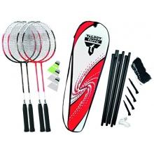 Talbot Torro Set Badminton 4-Attacker Netz RotWeiß  Bild 1