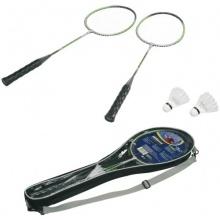 HUDORA Badmintonset 2 ALU-Schläger Tasche 2 Federbälle Bild 1