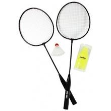 COM-FOUR® Badmintonset 2 Schlägern 7 Federbälle Bild 1