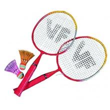 VICTOR Kinder BadmintonSchläger Mini-Set RotGelbWeiß Bild 1