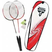 Talbot Torro Badmintonset 2 Schläger Premium RotWeiß Bild 1