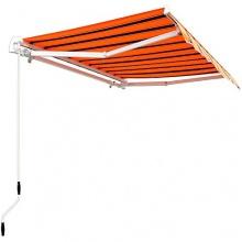 Aluminium Markise orange-schwarz 200x150 cm  Bild 1