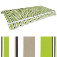 Gelenkarm-Markise 3,5x2,5 m grün-braun Sonnenschutz Bild 1