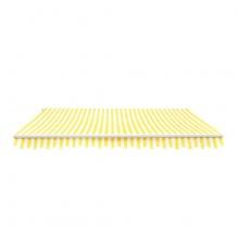 Alu-Markise 3x2,5m gelb-creme gestreift Bild 1