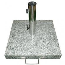 Sonnenschirmständer 40kg Granit Edelstahl eckig 50cm  Bild 1