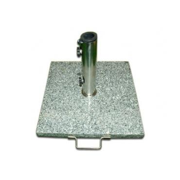 Sonnenschirmst nder 50kg granit edelstahl eckig 50cm test for Stahl pool eckig