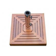 Sonnenschirmständer Holzverkleidung Granit  Bild 1