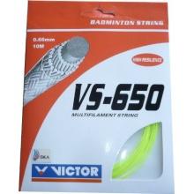 VICTOR Saiten für Badmintonschläger VS-650 Gelb 10 m Bild 1