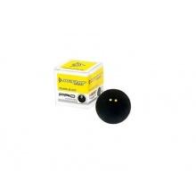 Dunlop Squashball 2 gelbe Punkte superslow  schwarz Bild 1