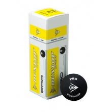 DUNLOP Pro Squashbälle 3er 2 gelbe Punkte Bild 1