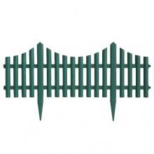 4 Stück Gartenzaun Beetumrandung Zaun 60,5x33cm - Grün Bild 1