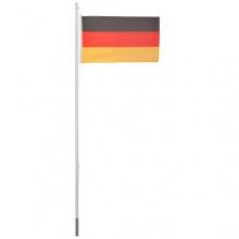 Ultranatura Fahnenmast 6.2 Meter, mit Deutschlandflagge 150 x 90 cm Bild 1