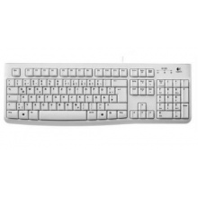 Logitech PC Tastatur deutsches Layout weiß Bild 1