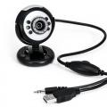 CSL USB Webcam inkl. Mikrofon mit 6 LEDs HD  Bild 1
