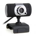 USB 2,0 HD Webcam mit Mikrofon DrehbaR Schwarz  Bild 1