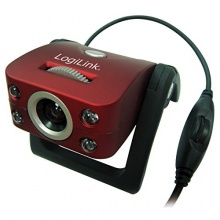 LogiLink Webcam USB 300k CMOS Sensor LED Mikrofon Bild 1