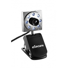 eSecure USB 8MP 8 LED Webcam mit Mikrofon Bild 1