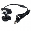 USB 2.0 Interpolation 50.0M Webcam 3 LED Mic Bild 1