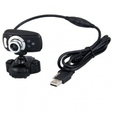 USB 2.0 Interpolation 50.0M Webcam 3 LED Mic Bild 1