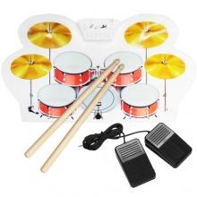 Skque E-Drums Roll up elektronisches Schlagzeug mit 8 Pads Bild 1