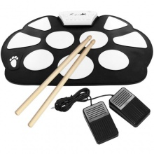 Skque E-Drums Roll up elektronisches Schlagzeug mit 8 Pads Schwarz Bild 1