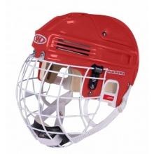 Worker Junior Eishockey Helm mit Gitter Gr 55-57 rot Bild 1
