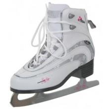 Nijdam Damen Eiskunstlauf Schlittschuhe, Weiß, 39 Bild 1